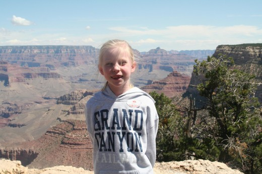 Shaela at the Grand Canyon