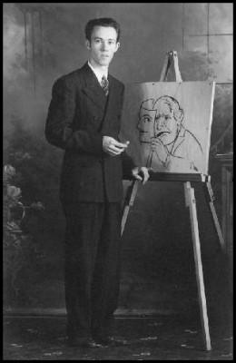 H. Mendell, a Chalk Artist in 1941