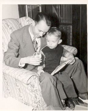 Mendell with His Son Harry