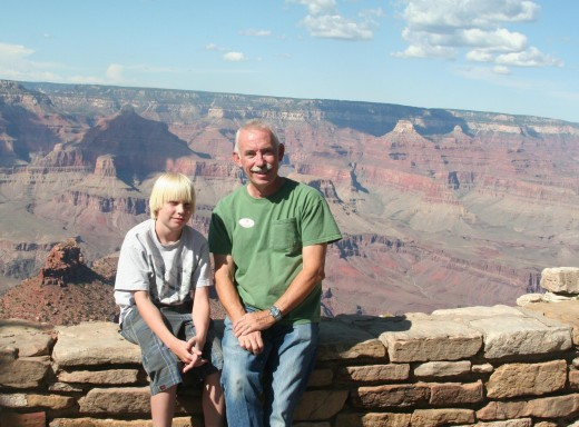 Grandpa and Nick at the Canyon