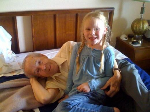 Shaela & great-grandpa Mendell