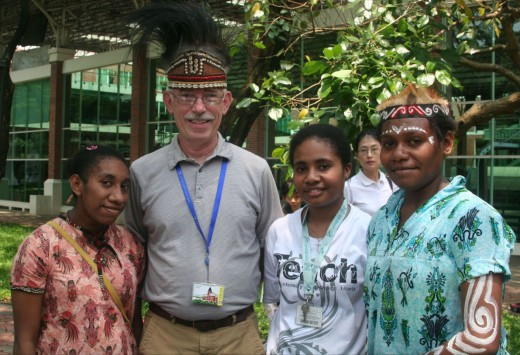 Harry with some Indonesian students
