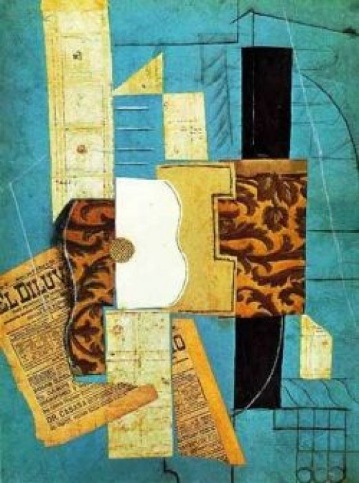 Pablo Picasso- created using newspaper, wallpaper & just any ramdom collectede papers