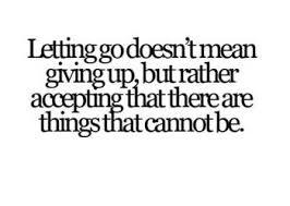 I let go in time.