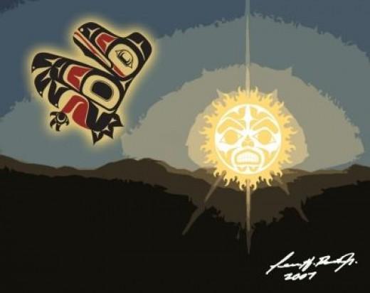 Terrance Henry Booth, Jr.: Tsimshian Art - Raven The Sun Guardian