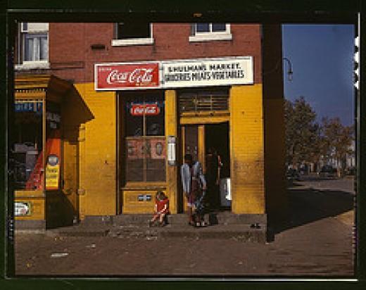 1940 -- Shulman's Market Washington D.C.   [Library of Congress -- Public Domain image]