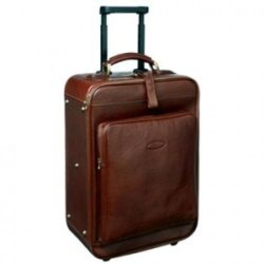 Brown Wheeled Luggage