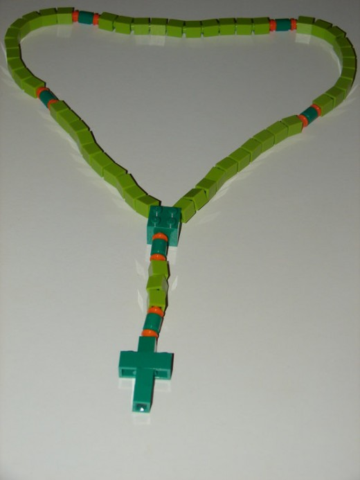 Millions of children love legos, and now you can get them a durable rosary made from them.  Genius!