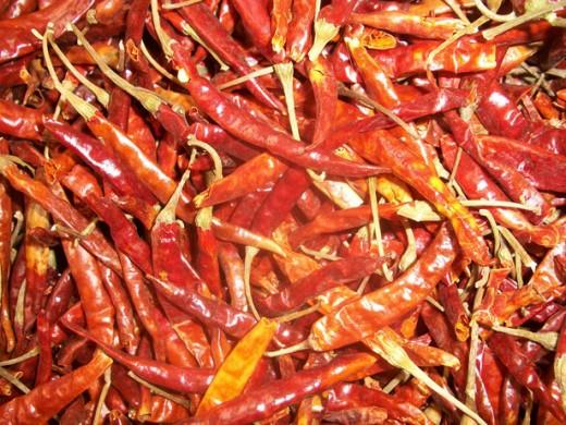 dried chili public domain
