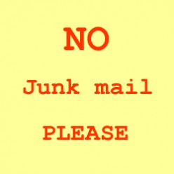No Junk Mail, Please