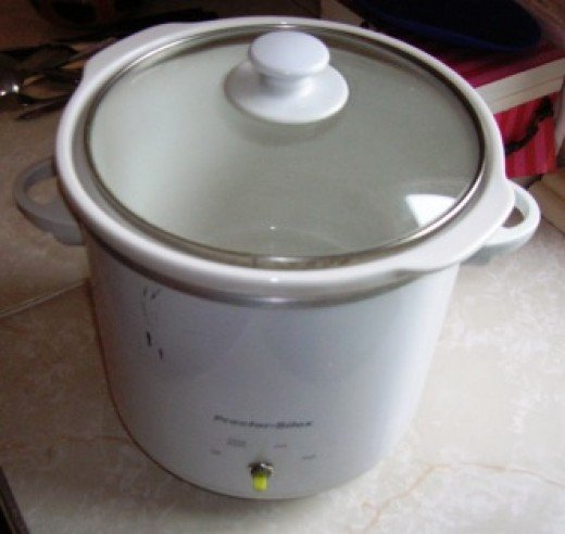 my slow cooker, well-used