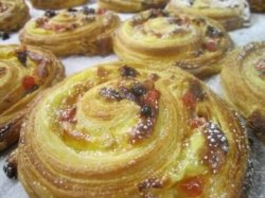 Pain Aux Raisins and Cream Cheese Snails