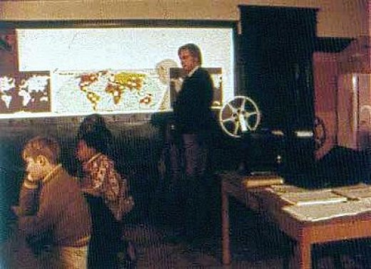 Who'll volunteer to run the projector?