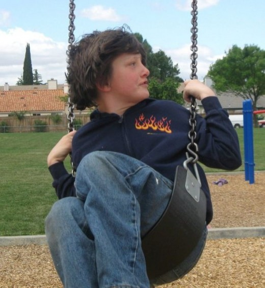 Erik on the swing