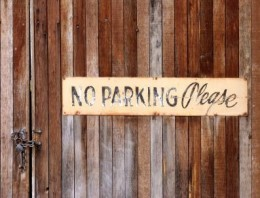 Don't park here either