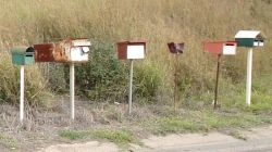 Group of letterboxes