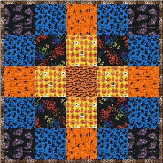 Halloween quilt design