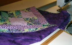 patchwork fabric and binding