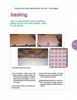 Beginner's guide: Basting a Patchwork Quilt