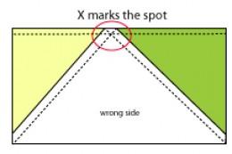 Sew across the X