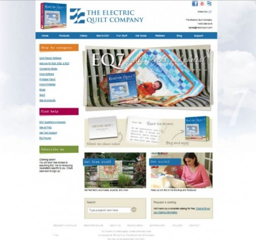 Electric Quilt website