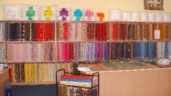 Rows and rows of fabrics