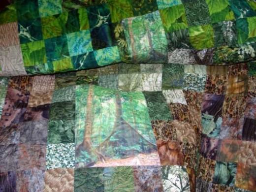Detail: Somerset Buttresses art quilt
