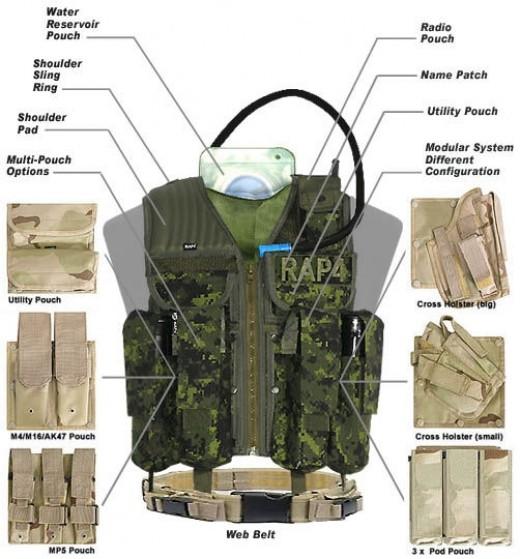 strikeforce paintball vest