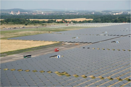 Waldpolenzsolar, a massive commercial solar powered electricity plant in Germany