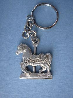 Robert Hall Carousel Horse Keychain-- Lead Free