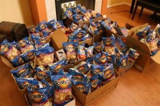 126 Bags of Chips the Runaway Teens Loved!