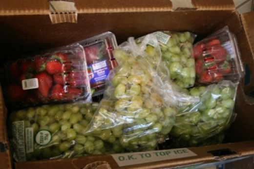 Grapes & Strawberries for the Homeless