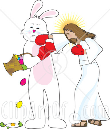 Jesus and The Easter Bunny Seem To Be Fighting For Attention Every Spring