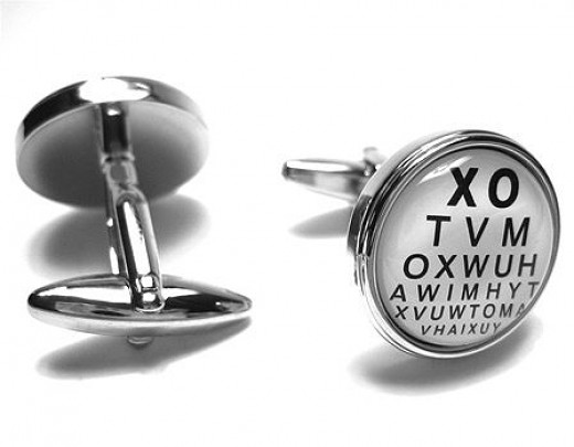 Eye Doctor Optometrist Vision Reading Chart Cufflinks