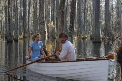Ryan Gosling as Noah Calhoun & Rachel McAdams as Allie Hamilton (in the the The Notebook film)