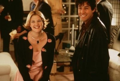 Drew Barrymore and Adam Sandler in The Wedding Singer