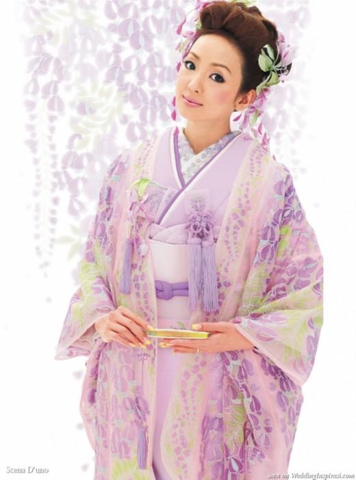 Lavender Bridal Kimono