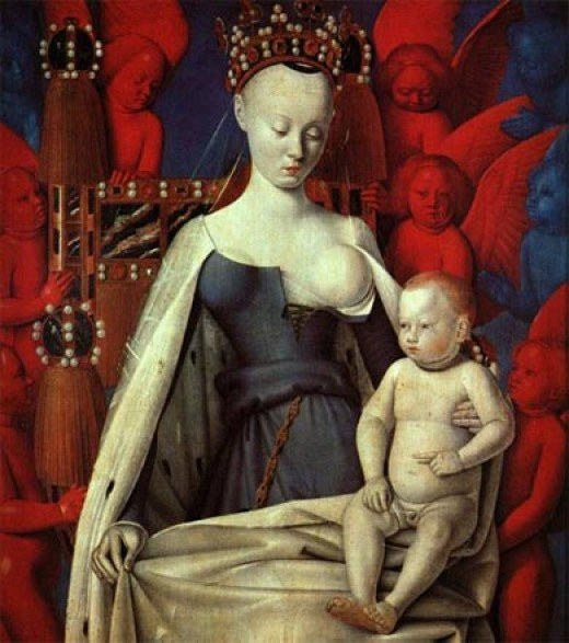 La Vierge à L'Enfant by Jean Fouquet (1450, France)