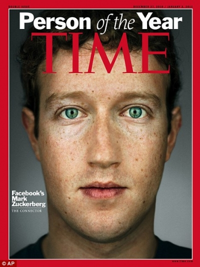 Time 2010 Person the Year - Mark Zuckerberg, founder of Facebook