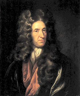 Daniel Defoe, author of Moll Flanders and Robinson Crusoe, among others.