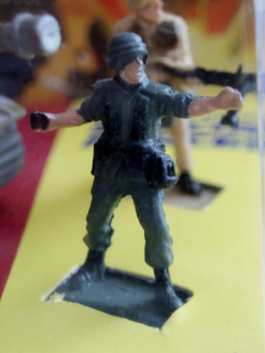 A soldier throwing grenade. From 96' Micro Machines #19 War Classics set.