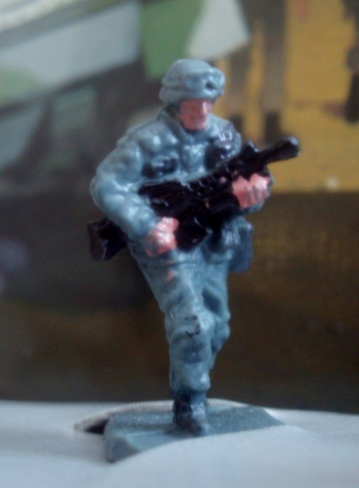 Patroling soldier. From 94' Micro Machines #17 Infantry Attack set.