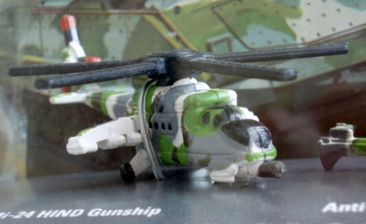 MIL Mi-24 HIND Gunship. From 94' Micro Machines #10 First Strike Batallion set.
