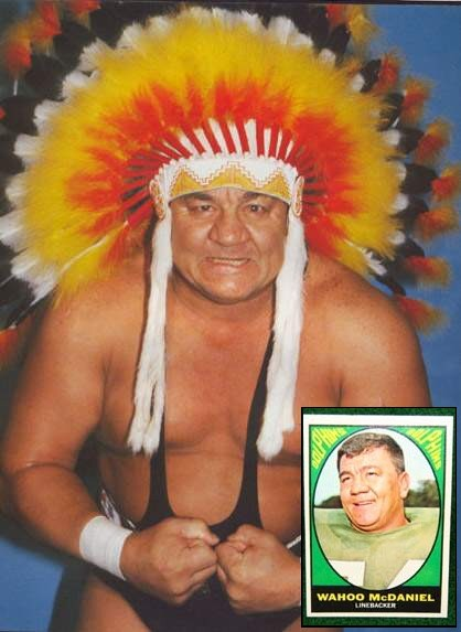 Many people forget that Wahoo McDaniel played for the Jets, Oilers,Broncos,and Dolphins and he was a hell of a Football Player. How soon we forget.