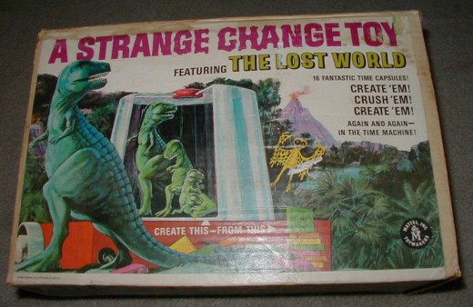 The toy came in one of Mattel's most wonderfully designed l boxes ever. Two of the sides were in full colorful artwork of strange creatures.
