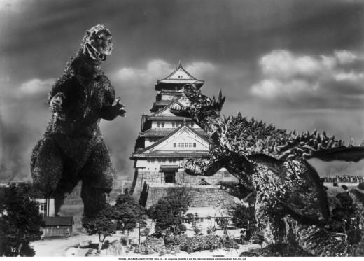 Godzilla in an epic battle