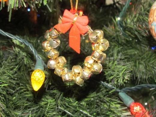 bells strung into a wreath
