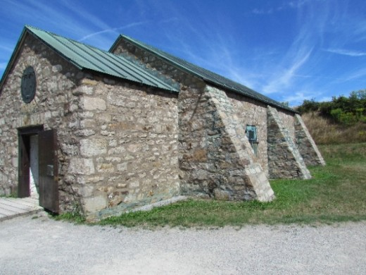 Powder Magazine - the only fort building to survive the War of 1812