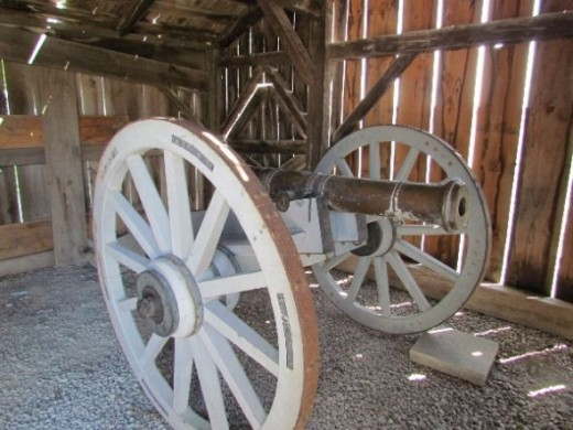 Gun Shed - stores the field guns