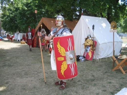 Re-enactor at Fort Malden